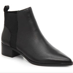 Crown Vintage Black Pointed Toe Booties